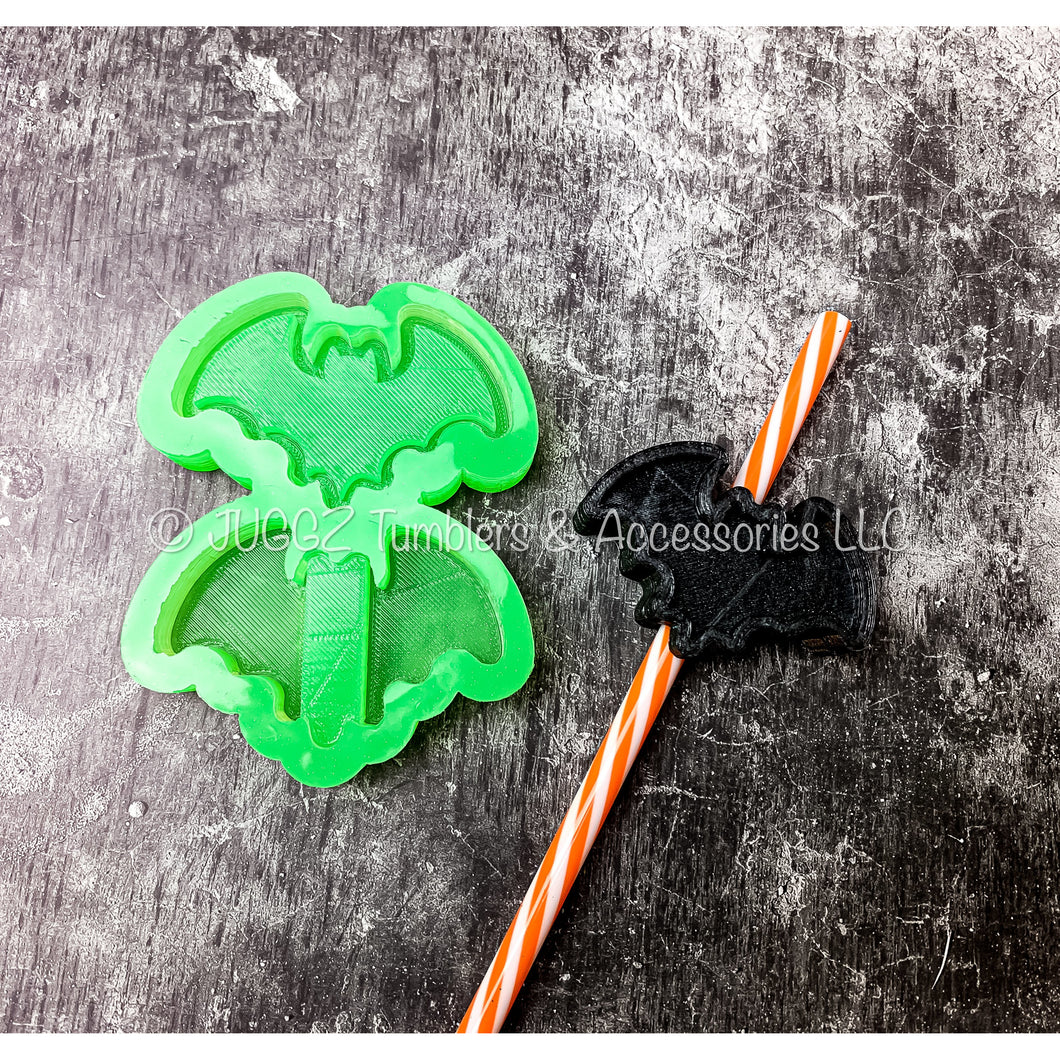 Bat Shaker Straw Topper Mold