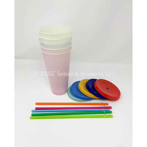 Frosted Color Changing Cups (Set of 5)
