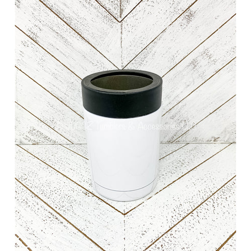 12oz White Can Cooler