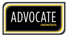 Load image into Gallery viewer, ADVOCATE #ENDOMETRIOSIS Sticker