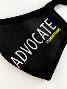 ADVOCATE #endometriosis Mask