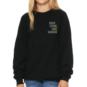 Brave Strong Endo Warrior Embroidered Sweatshirt