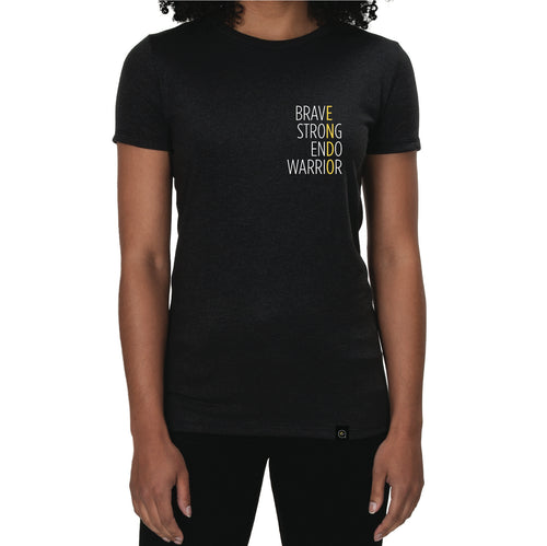 Brave Strong Endo Warrior Embroidered Tee