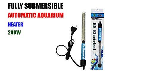 RS Electrical 200 W Automatic on Off Facility Aquarium Glass Heater - Amanpetshop-