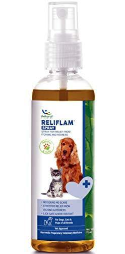 Natural Remedies Reliflam Spray for Itching and Redness for Dogs & Cats of All Breeds, 75ml
