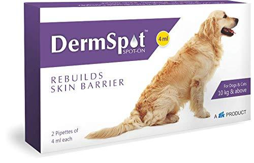 DERMSPOT SPOT-ON 4ML for Dogs & Cats (4 PIPETTES of 4ML) by Jolly and Cutie Pets - Amanpetshop-
