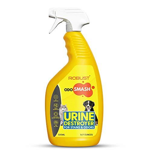 ROBUST Odosmash | Urine Destroyer | Pet Stain and Odor Remover | Natural Bio-Enzymatic Formula | Cat Litter Spray | All Pets | All Surfaces | Fresh Citrus Fragrance | 500 ml - Amanpetshop-