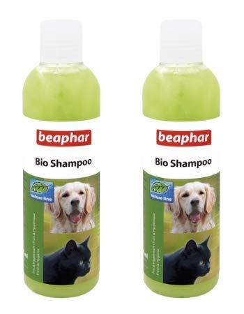 Beaphar Bio Shampoo for Dogs & Cats from 12 Weeks Old, 250 ml (Pack of 2 - Total 500 ml) - Amanpetshop-