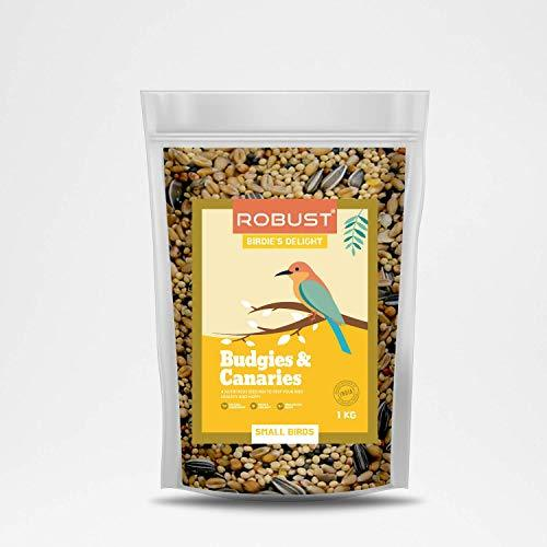 Robust Birdie's Delight | Nutritious Bird Food | for Budgies & Canaries | Small Birds | 1 Kg Pack - Amanpetshop-