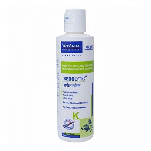 Virbac Cleansing Tar-free Medicated Shampoo for Dog, Cat and Horse (200ml) - Amanpetshop-