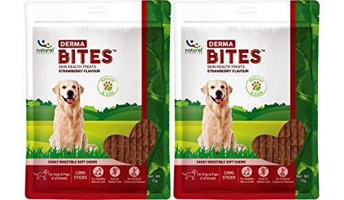 Natural Remedies Derma Bites, Strawberry Flavour, 75 GMS (Pack of 2 Treats)