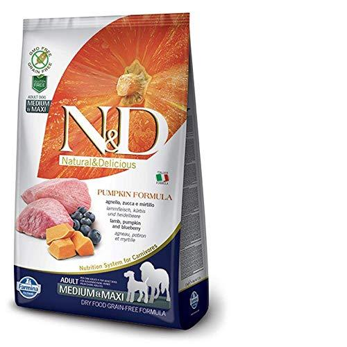 Farmina N&D Happy Tails Grain-free Pumpkin Lamb and Blueberry Adult Food, 12 kg (Medium and Maxi) - Amanpetshop-