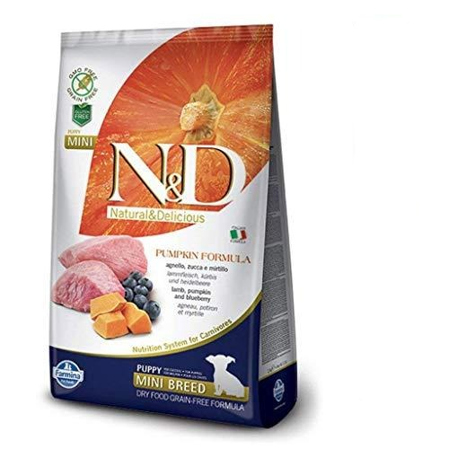 Farmina N&D Grain Free Dry Dog Food Lamb & Blueberry Mini Breed Puppy Food (7 Kg) - Amanpetshop-