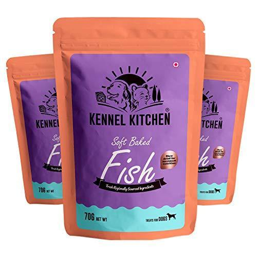 Kennel Kitchen Soft Baked Fish Sticks Treats for Dogs, 70g (Pack of 3)