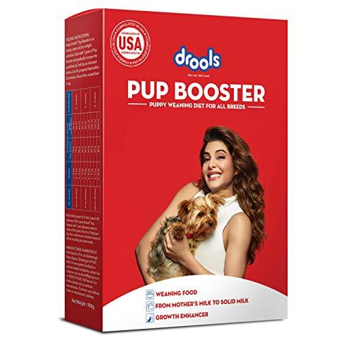 Drools Pup Booster - Puppy Weaning Diet for All Breeds, 300 Gram pack of 2 - Amanpetshop-