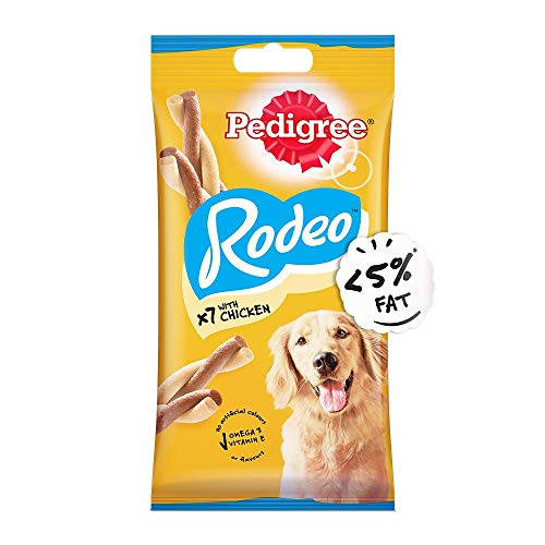 Pedigree Rodeo Adult Dog Treat, Chicken - 123 g Pack (7 Treats)