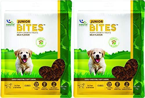 Natural Remedies Junior Bites, Milk Flavour, 75 GMS (Pack of 2 Treats)
