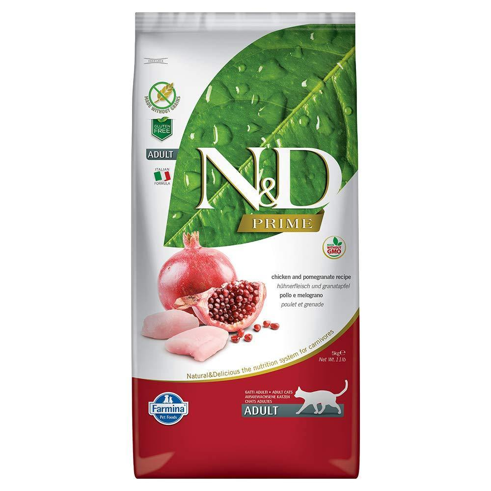 Farmina N&D Grain Free Chicken and Pomegranate Adult Cat Food neutered 5 kg - Amanpetshop-