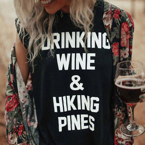 DRINKING WINE t-shirt-Pretty Shining People