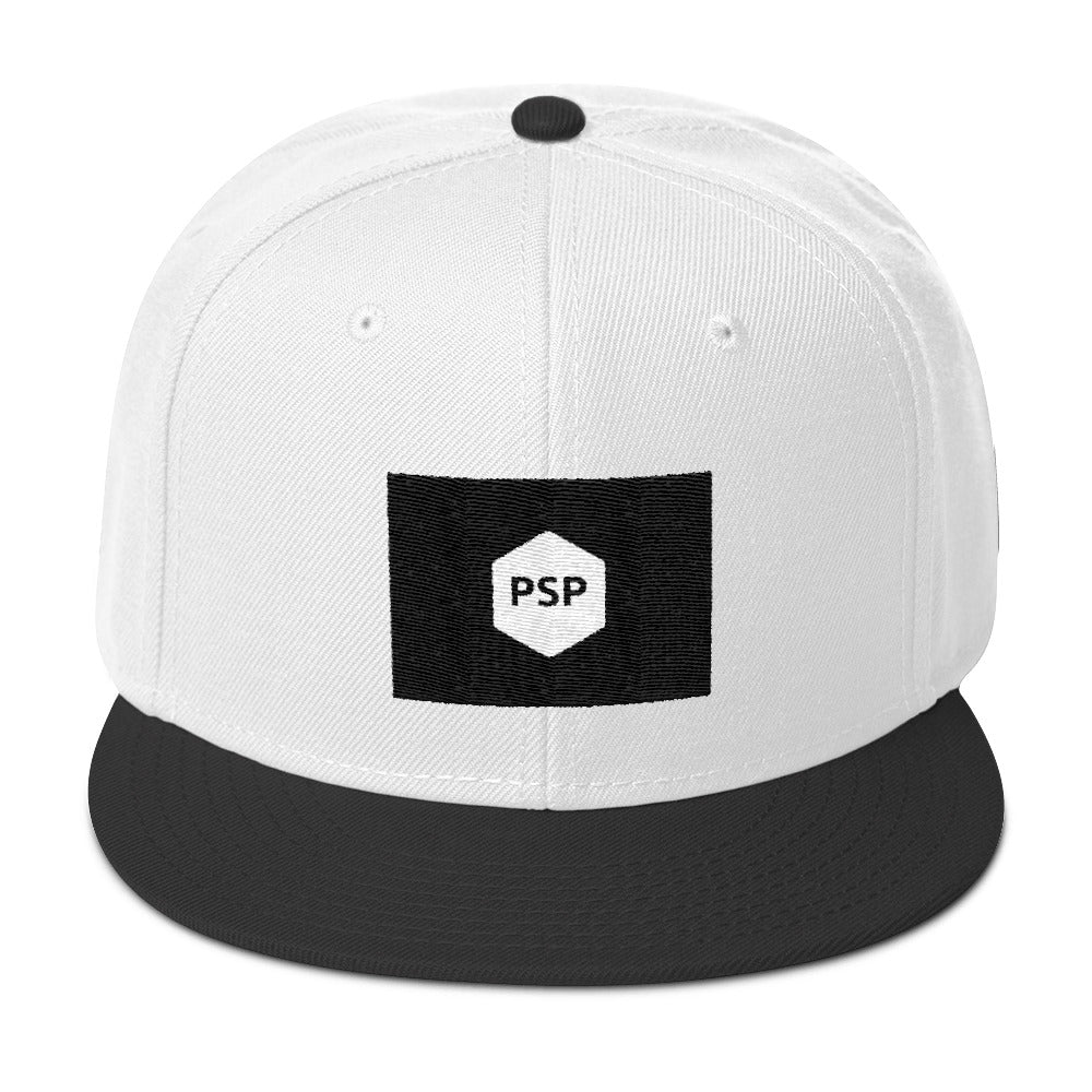 Snapback Hat-Pretty Shining People-Black / White / White-Pretty Shining People