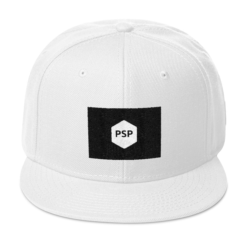 Snapback Hat-Pretty Shining People-White-Pretty Shining People