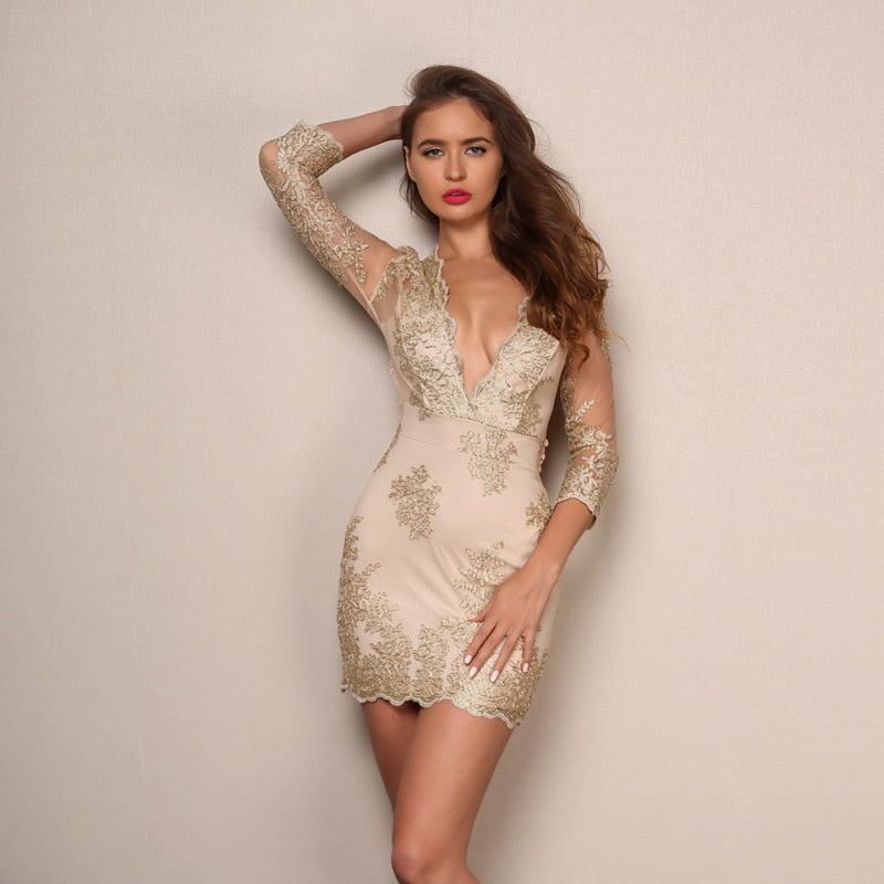 Elegant Backless Lace up Dress-Pretty Shining People