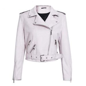 faux leather jacket-Pretty Shining People-Light Pink-S-Pretty Shining People