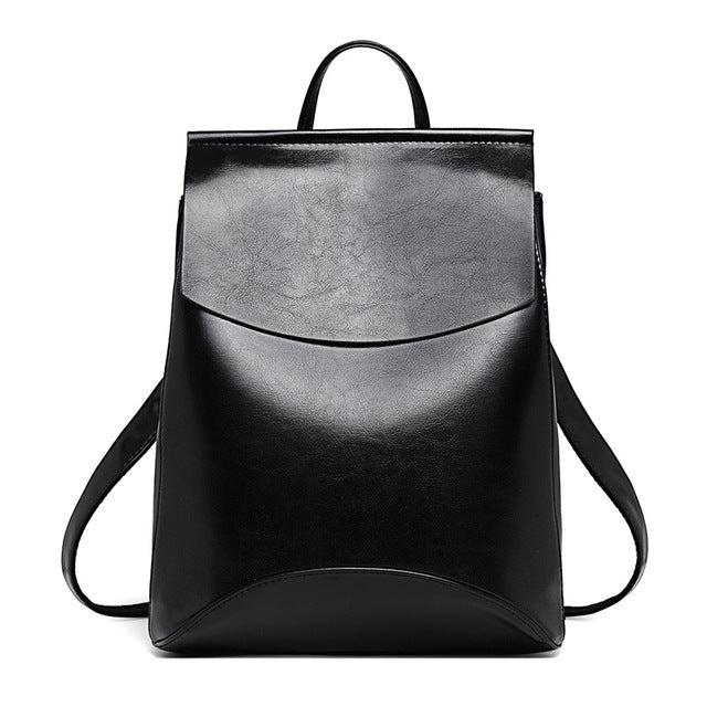 Leather Backpack-Pretty Shining People-Black-China-Pretty Shining People