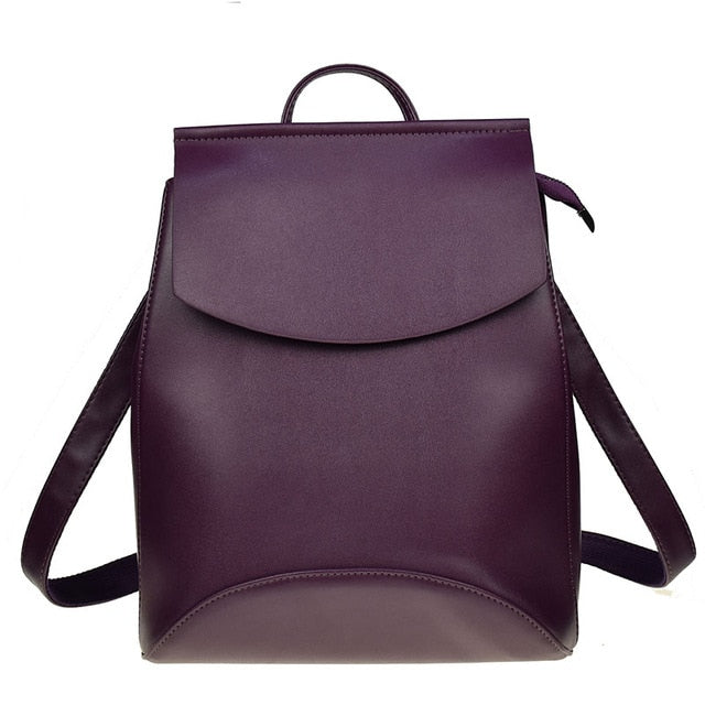 Leather Backpack-Pretty Shining People-dark Purple-China-Pretty Shining People