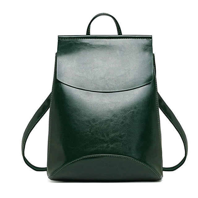 Leather Backpack-Pretty Shining People-Green-China-Pretty Shining People