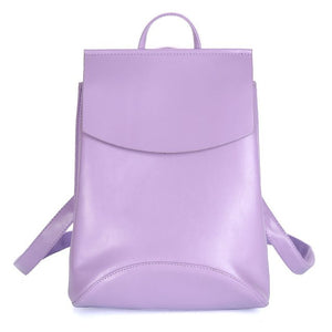 Leather Backpack-Pretty Shining People-Purple-China-Pretty Shining People