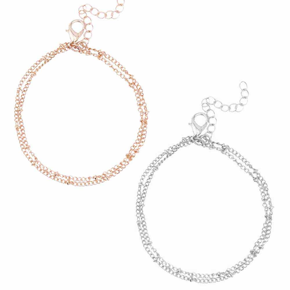 Dainty Double-Layer Bracelet-Pretty Shining People