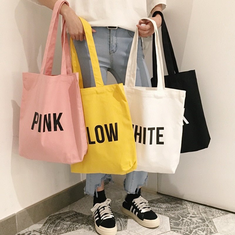 Coloured Tote Bag-Pretty Shining People