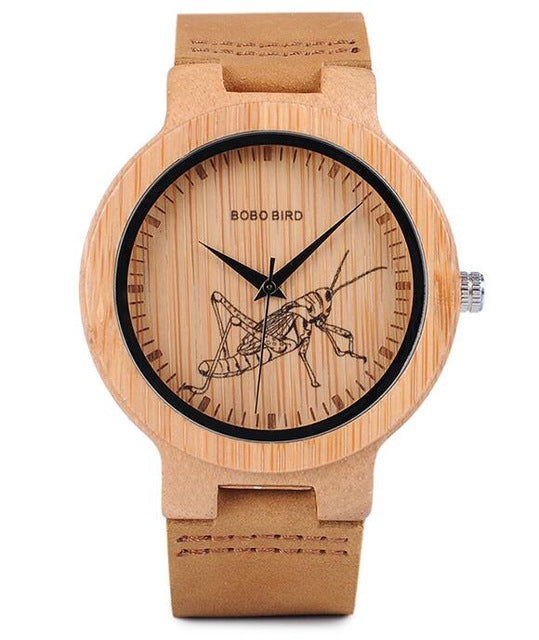 Bamboo Wood Watch-Pretty Shining People-P20-1locust-Pretty Shining People