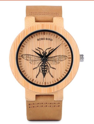 Bamboo Wood Watch-Pretty Shining People-P20-2hornet-Pretty Shining People