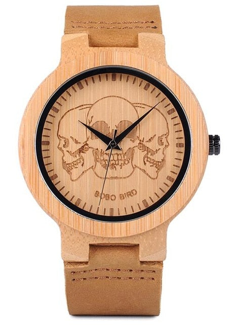Bamboo Wood Watch-Pretty Shining People-P20-5skull-Pretty Shining People