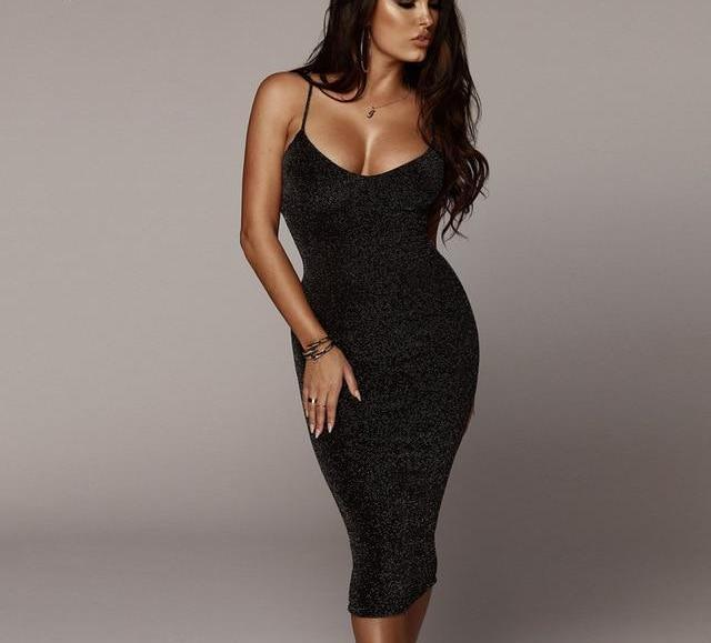 Black Backless Party Dress-Pretty Shining People