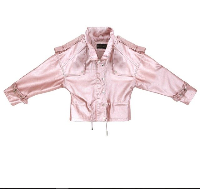 Aviator Jacket-Pretty Shining People-A1778 Pink-S-Pretty Shining People