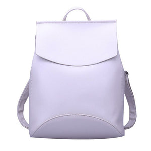 Leather Backpack-Pretty Shining People-White-China-Pretty Shining People