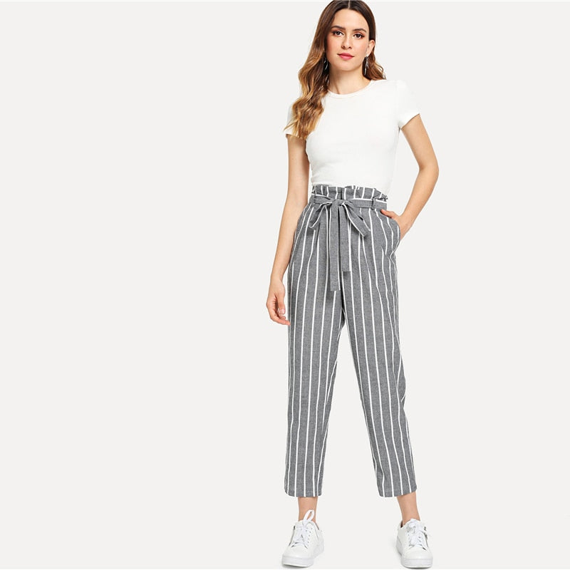Tapered High Waist Pants