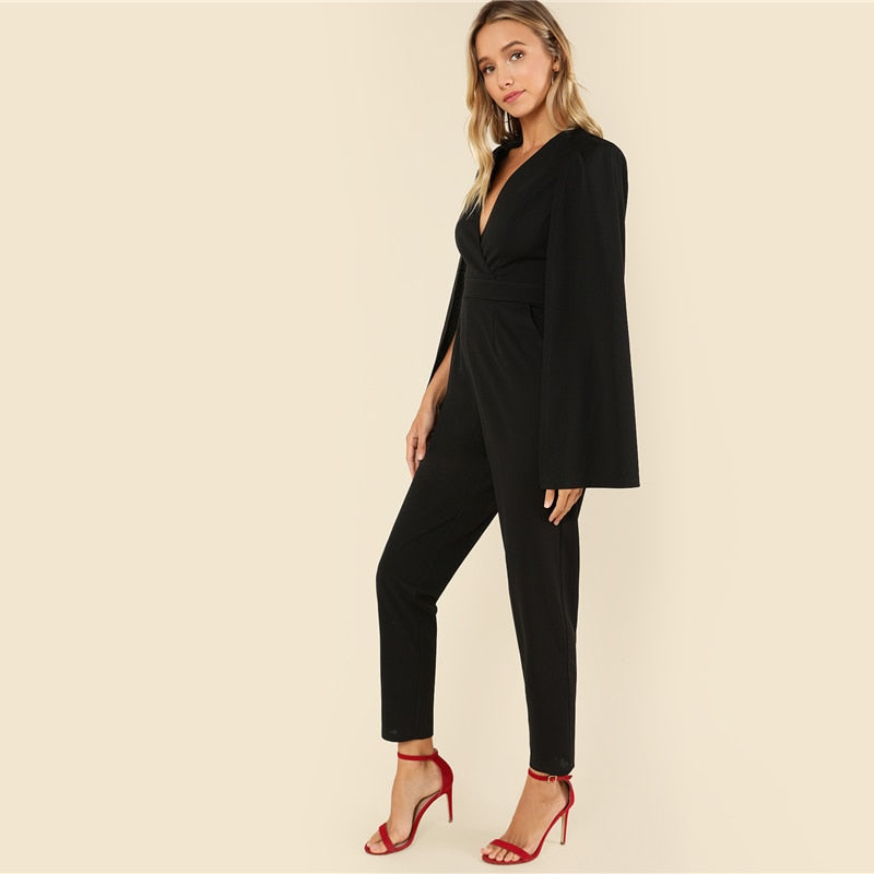 Black Elegant Jumpsuit-Pretty Shining People