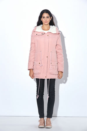 Medium-Long Wadded Parka-Pretty Shining People-Pretty Shining People