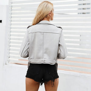 faux leather jacket-Pretty Shining People-Pretty Shining People