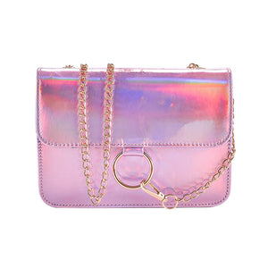 Holographic Shoulder Bag-Pretty Shining People-Pink-Pretty Shining People