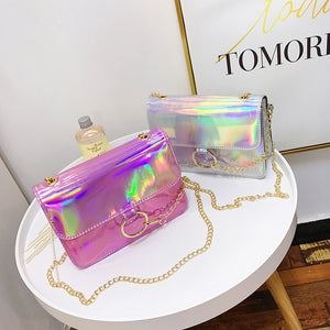 Holographic Shoulder Bag-Pretty Shining People-Pretty Shining People