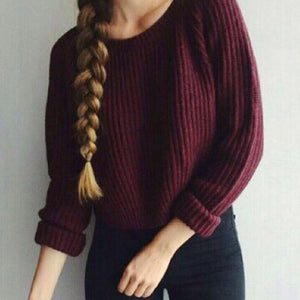 Slim Knitted Sweater-Pretty Shining People