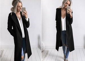 Slim Overcoat-Pretty Shining People-Black-S-Pretty Shining People