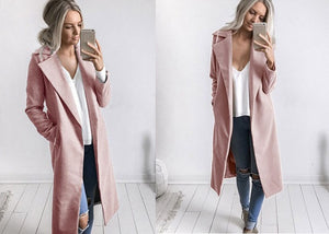 Slim Overcoat-Pretty Shining People-Pink-S-Pretty Shining People