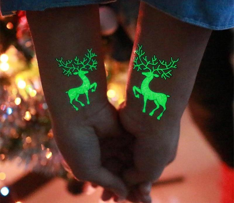 Temporary Christmas Tattoo-Pretty Shining People