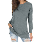 Long Sleeve Sweatshirt-Pretty Shining People-Gray-S-Pretty Shining People